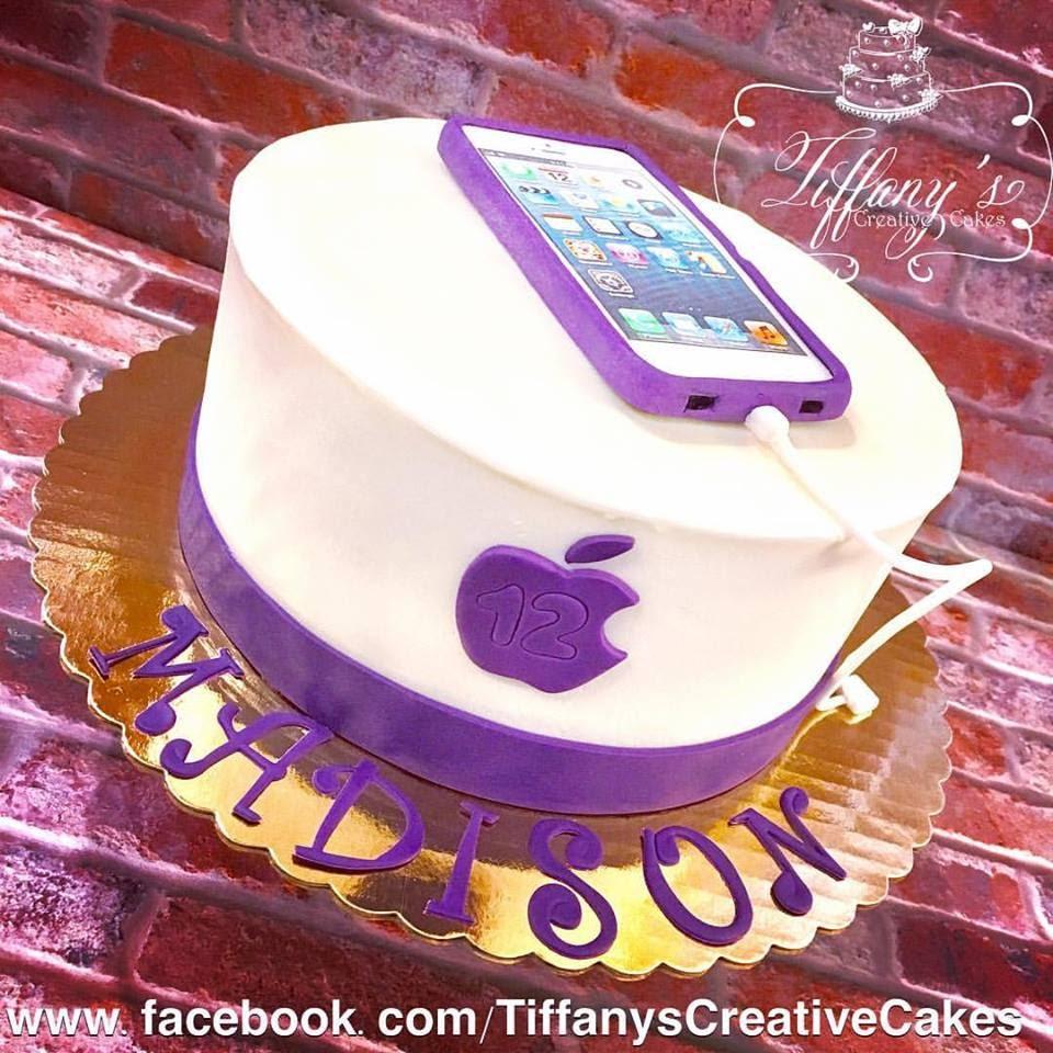 Iphone Birthday Cake Tiffanys Creative Cakes