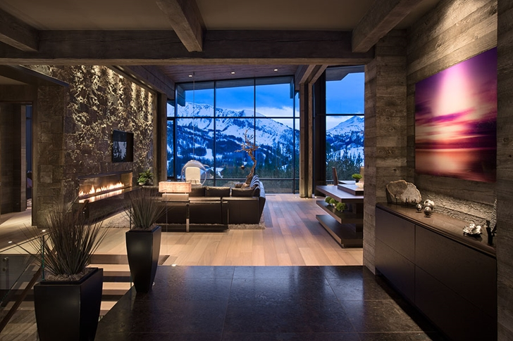 world of architecture luxury and elegant mountain home by reid smith architects. Black Bedroom Furniture Sets. Home Design Ideas