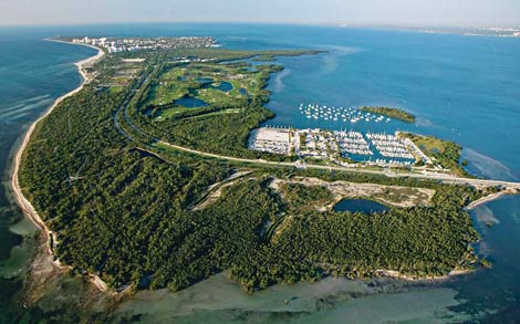Parque natural Bill Baggs em Key Biscayne