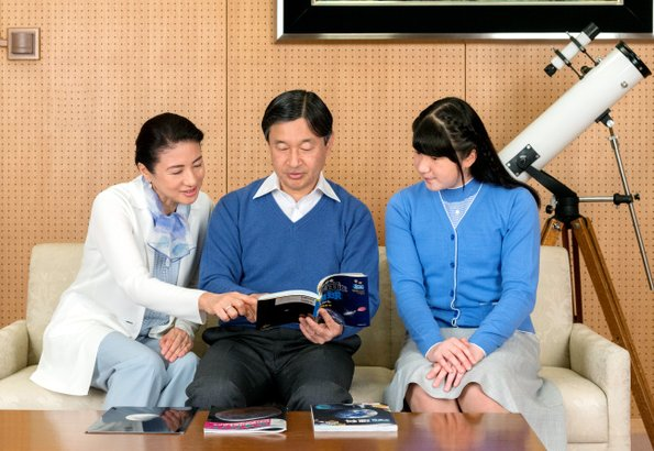 Crown Prince Naruhito with Crown Princess Masako and Princess Aiko