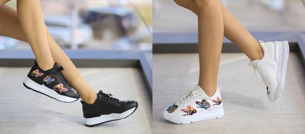 Adidasi dama albi, negri cu talpa inalta ieftini primavara 2017