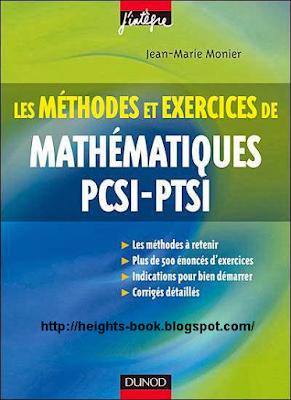 Télécharger Livre Gratuit Méthodes et Exercices de Mathématiques PCSI-PTSI pdf