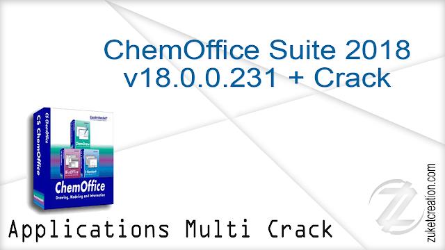 ChemOffice Suite 2018 v18.0.0.231 + Crack   |  525 MB