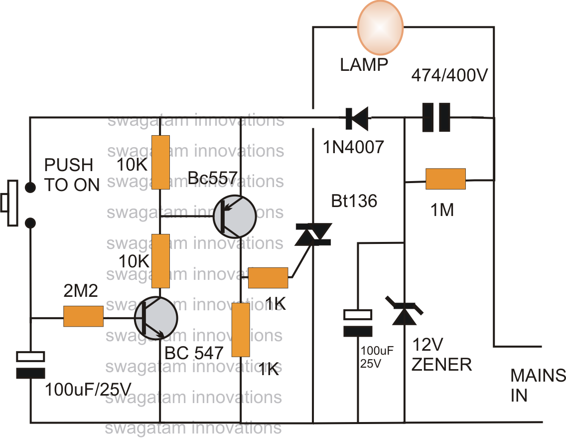 How To Make A Simple Bedroom Lamp Timer Using Ic 741