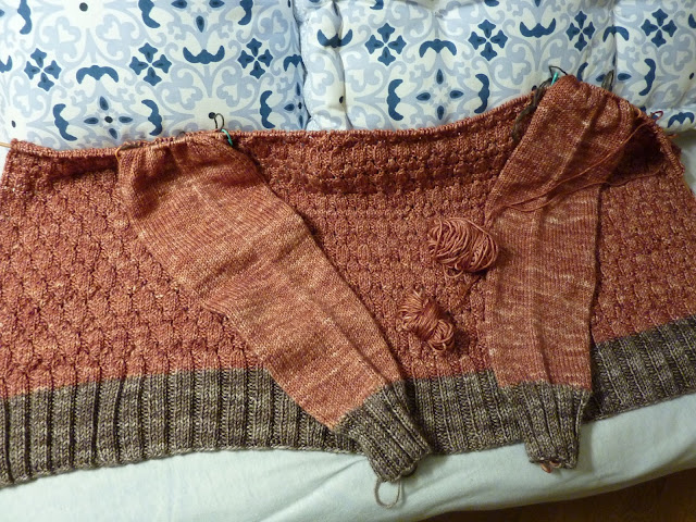 Down Top Cardigan Yoke and Joined Round