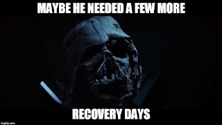 Star Wars Darth Vader's broken helmet - maybe he needed a few more recovery days!