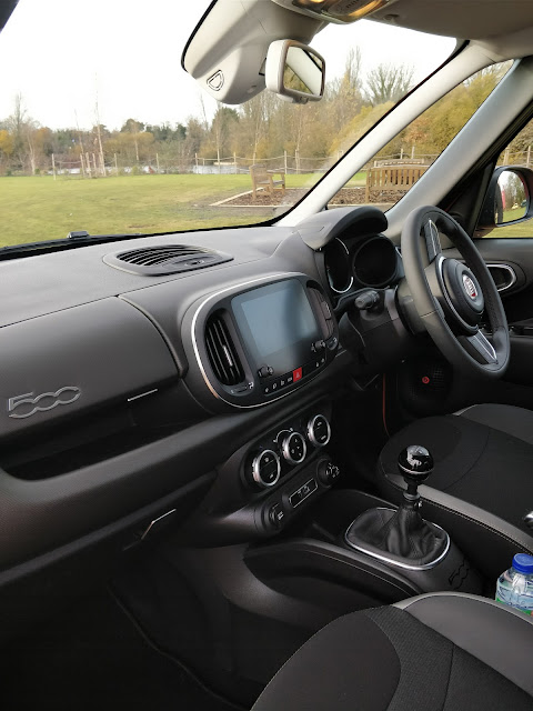 Interior of the new Fiat 500L