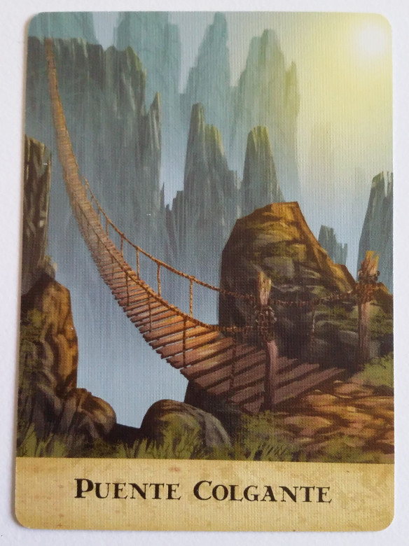 Carta de puente colgante