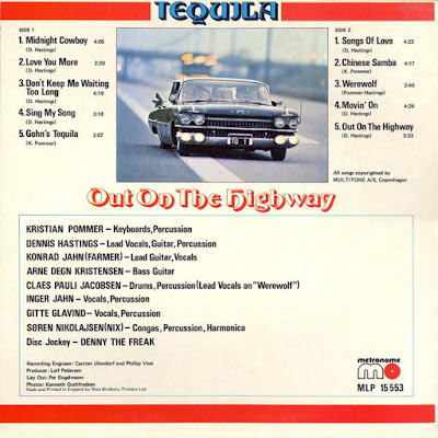 Tequila -  Out On The Highway (1975)