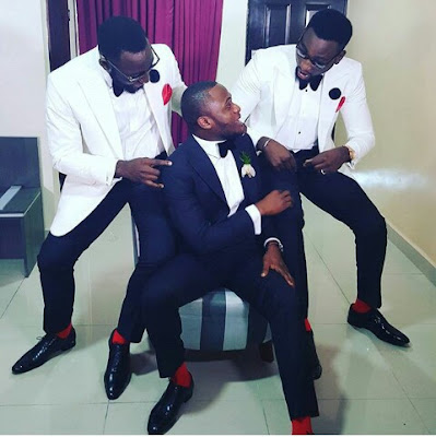 Photos-Ubi Franklin And His Grooms Men Set For Wedding Today.