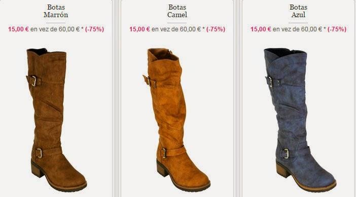 ¡Botas en color marrón, camel, azul y más colores!