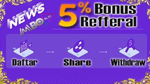 Bonus Refferal 5%