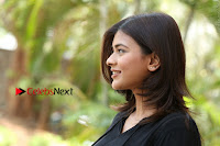 Actress Hebah Patel Stills in Black Mini Dress at Angel Movie Teaser Launch  0158.JPG