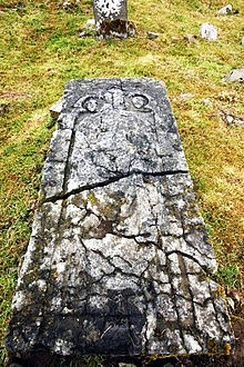 Stone slab in Thomas Town, Kilkenny, Ireland. Believed to be the tomb of Saint Nicholas.