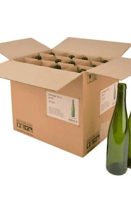 Podrás colocar varias botellas en una caja facilitándote su movilización.