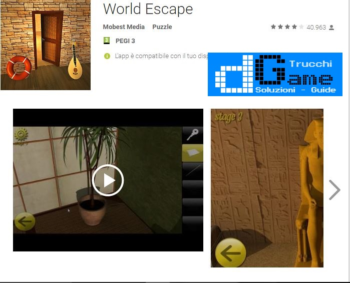 Soluzioni World Escape  livello 11 12 13 14 15 16 17 18 19 20 | Trucchi e  Walkthrough level