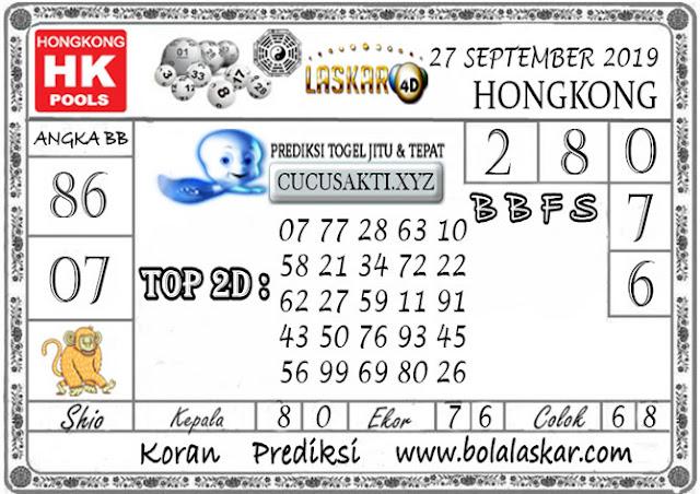 Prediksi Togel HONGKONG LASKAR4D 27 SEPTEMBER 2019