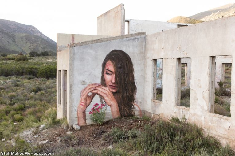 Graffiti Aesthetics: Amazingly Fantastic Water Portraits and Street Art by Sean Yoro