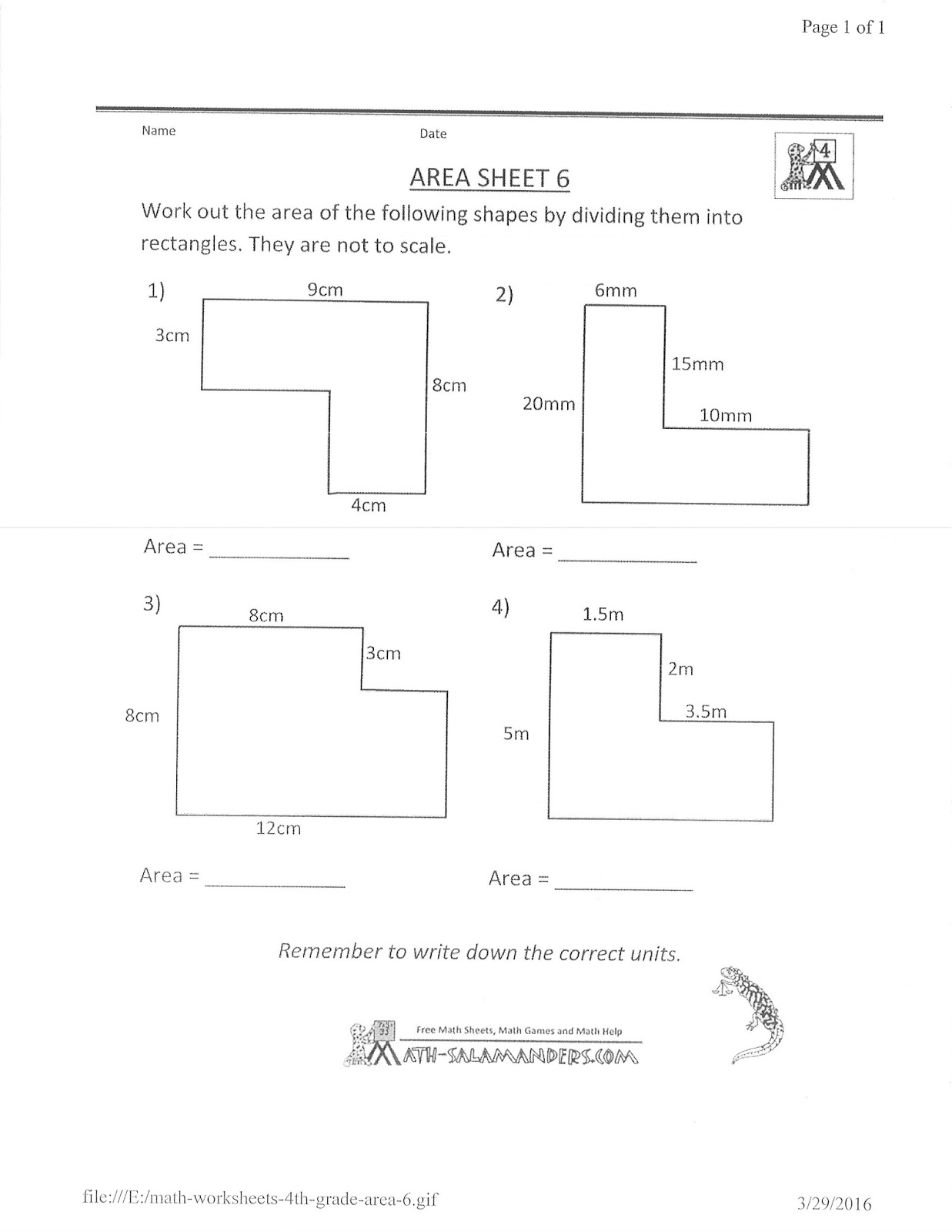 Mrs. White's 6th Grade Math Blog FINDING THE AREA OF ...