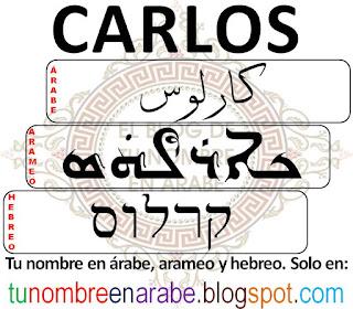 Carlos en hebreo para tatuajes