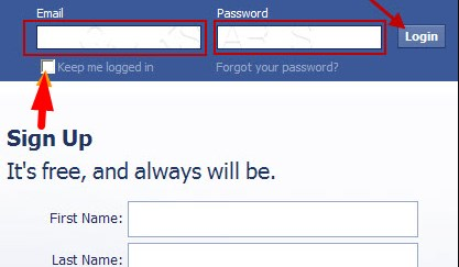 facebook login account open
