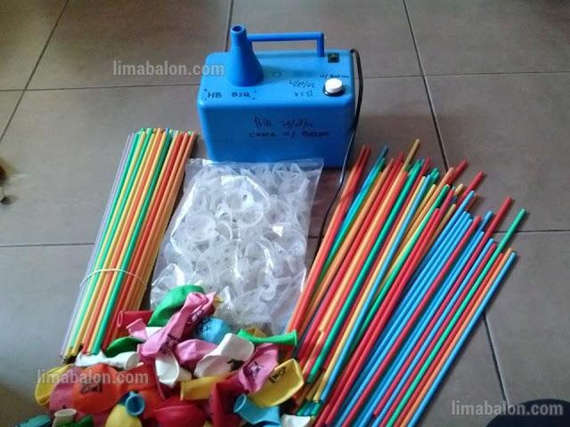 alat dan bahan untuk dekorasi balon