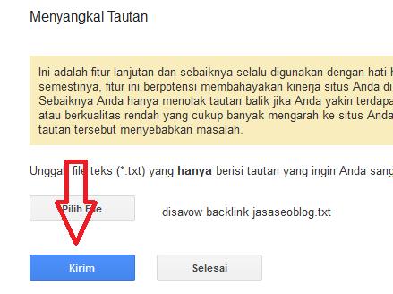 Disavow Backlinks dan Memblokir Backlink