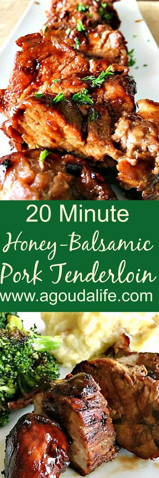 Honey Balsamic Pork Tenderloin (20 Minute Meal)