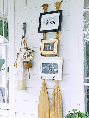 outdoor oar wall rack picture holder