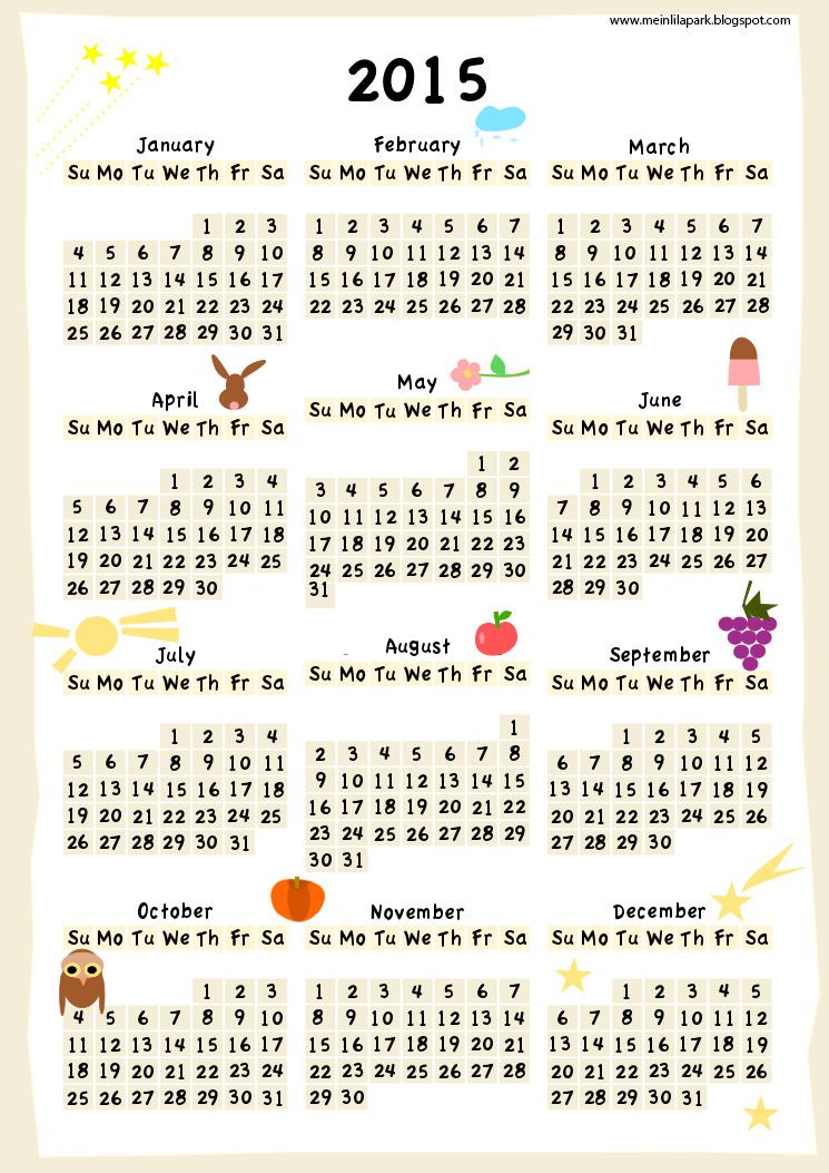year calendar 2015 printable xv-gimnazija