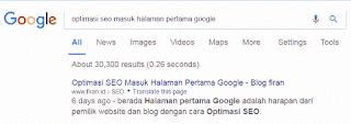Halaman Pertama Google 1