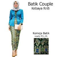 Batik Couple Setelan Kebaya Batik Muslim Kutubaru Rok Batik Prada SBRG140bb
