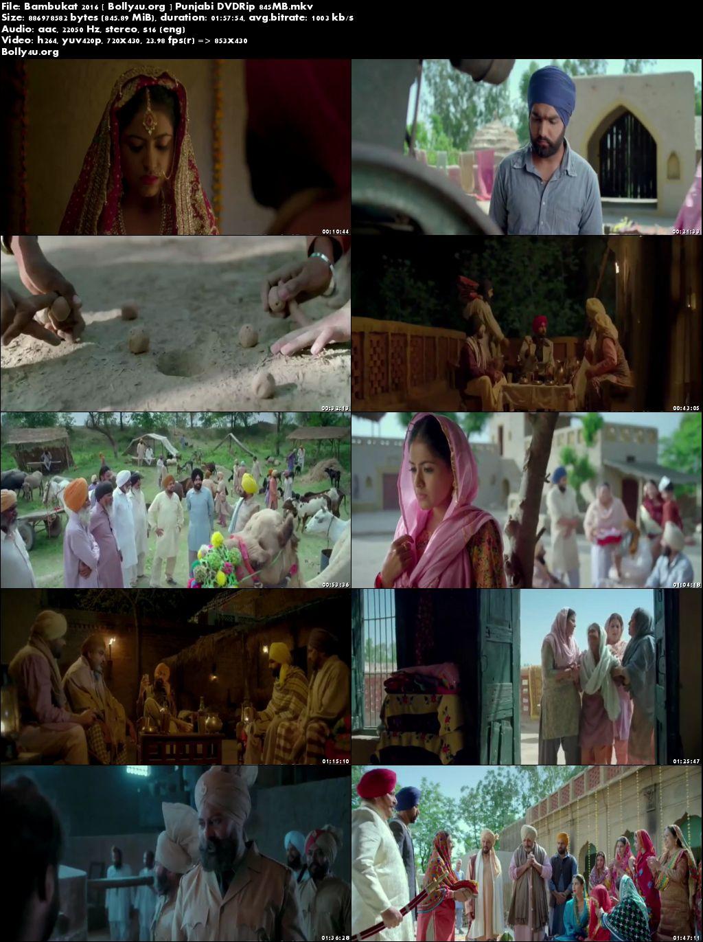 Bambukat 2016 DVDRip 350MB Punjabi Movie 480p Download