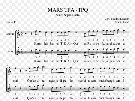 Lirik Lagu Syair Hymne TKA TPA dan MARS TKA-TPA
