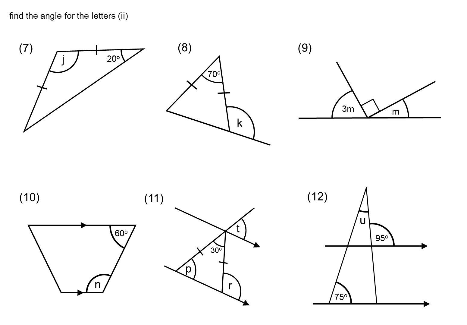 MEDIAN practice and quiz questions: angle questions