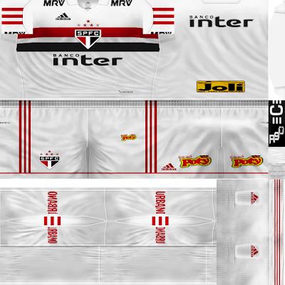 PES 6 Kits São Paulo Season 2018/2019 by Rodry90 Kitmaker