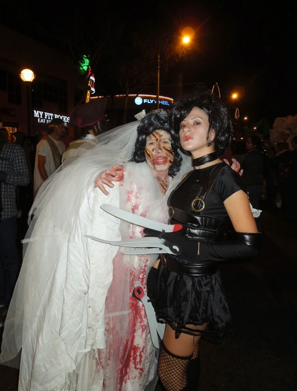 Zombie Bride Edward Scissorhands costume West Hollywood Halloween