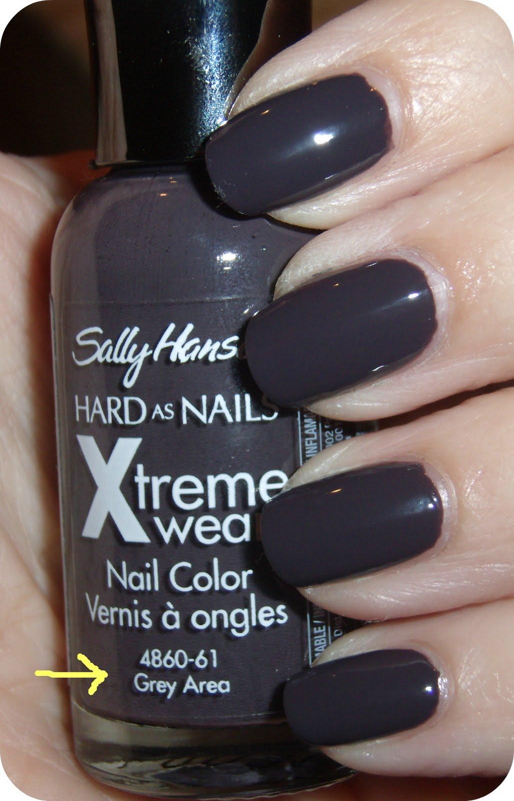 "Grey Nail Arts: Obsessive Cosmetic Hoarders Unite!: Sally Hansen ""Grey"