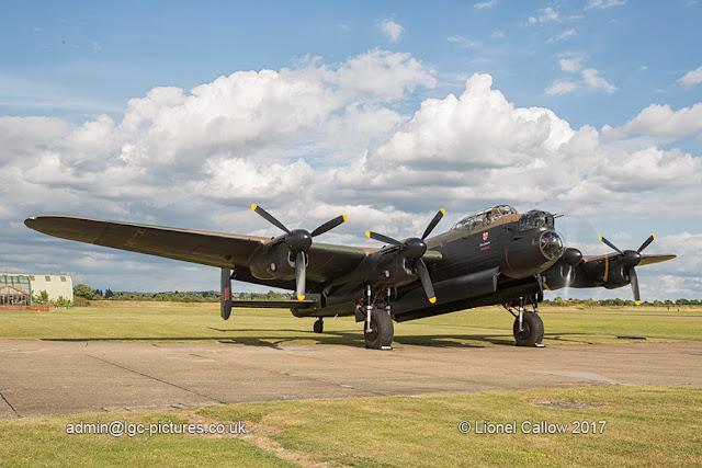 BBMF Lancaster prepareing for test flight