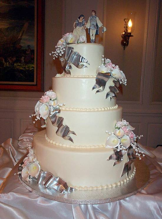 lily s Cakes And Breads  Walmart Wedding Cakes With Cream Ornament     ribbon wedding cakes      Walmart Wedding Cakes