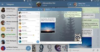 02 Tampilan Telegram di smartphone dan tablet - Apa Itu Aplikasi Telegram Messenger & Fitur Kelebihannya