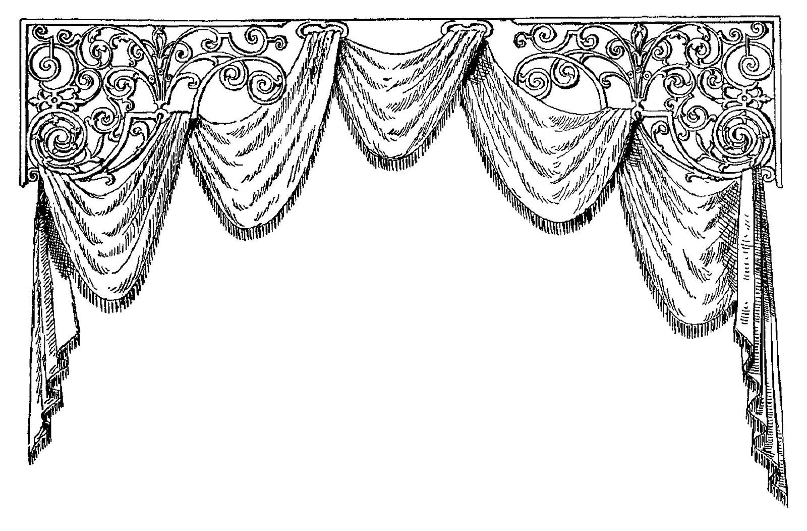 Digital Stamp Design Digital Curtain Border Crafting