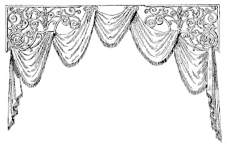 border digital crafting design vintage curtain illustration