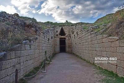Οι τάφοι της Κλυταιμνήστρας και του Αίγισθου στις Μυκήνες (βίντεο)
