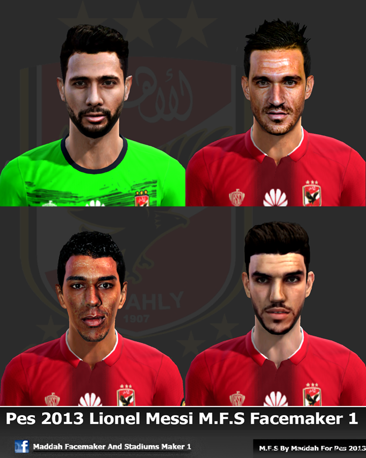 PES 2013 Face Pack Al_Ahly 74 Part 1 By Maddah Facemaker 1