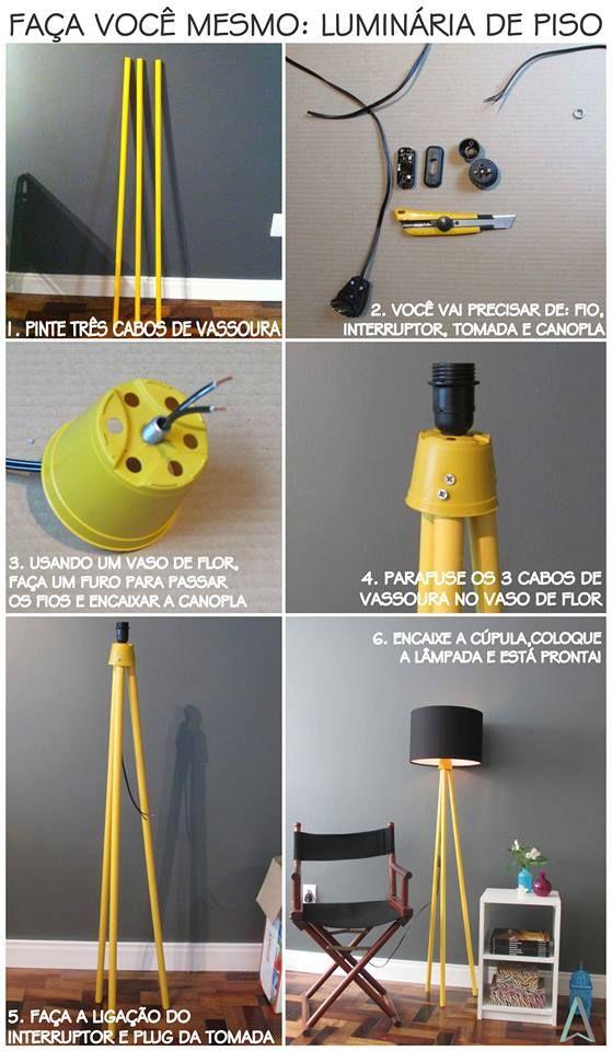 Luminária criativa passo a passo