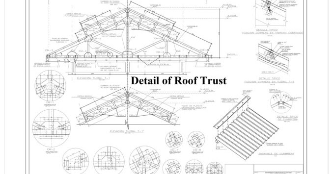 detail of roof trust