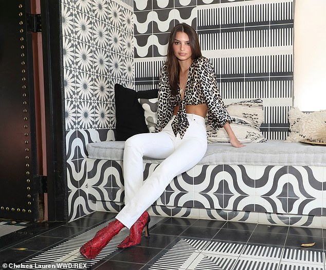 Emily Ratajkowski, 27, was spotted in a revealing ensemble for the Levi's Brunch on Saturday