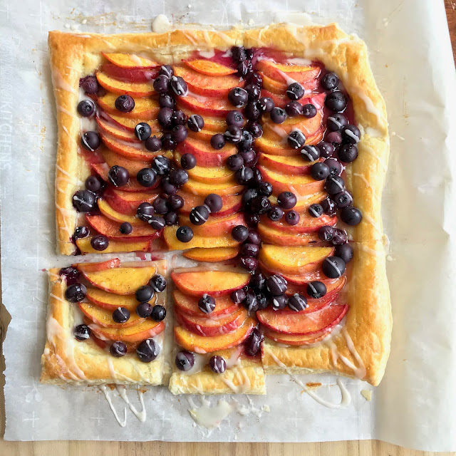 peach and blueberry tart recipe