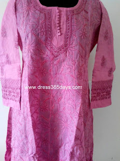 Rose Pink Chikan Anarkali